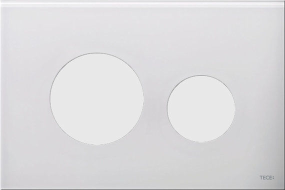 Loop White Glass with White Button
