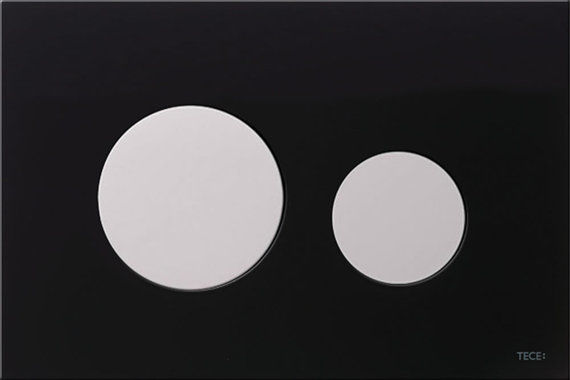 Loop Black Glass with White Button