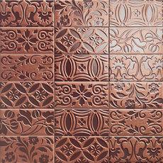 Velvet Copper Decor 10x20cm