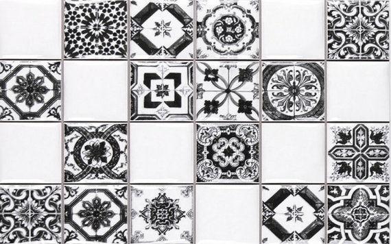 Novum White Black 25x40cm