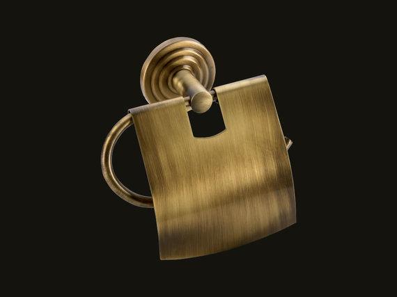Χαρτοθήκη με κάλυμμα Brass
