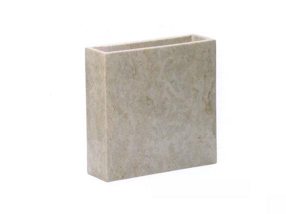 Βάζο τετράγωνο Stone Beige